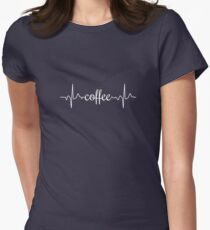 Coffee Heartbeat Women's Fitted T-Shirt
