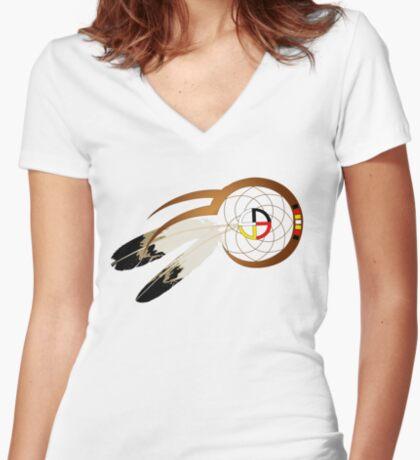 Dream catcher  Women's Fitted V-Neck T-Shirt