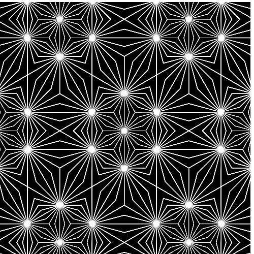 Crazy Black and White Geometric Pattern by Bebface