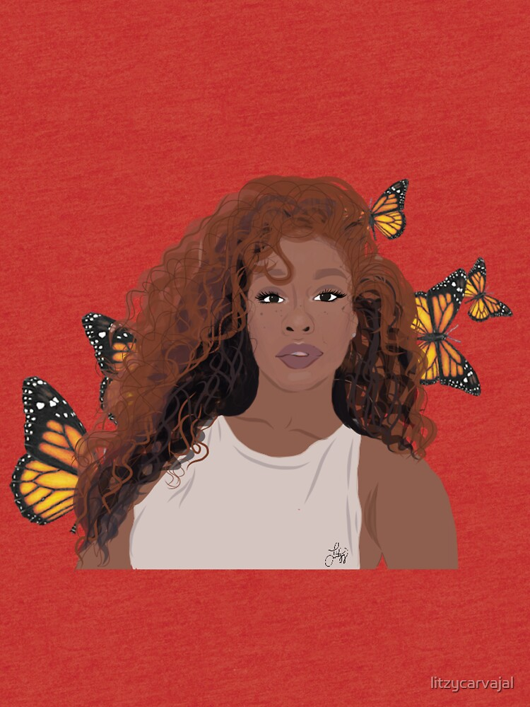 777bc51f1 SZA Butterfly Tri-blend T-Shirt Front. product-preview. SZA Butterfly by  litzycarvajal