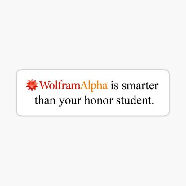 Wolfram Alpha Sticker