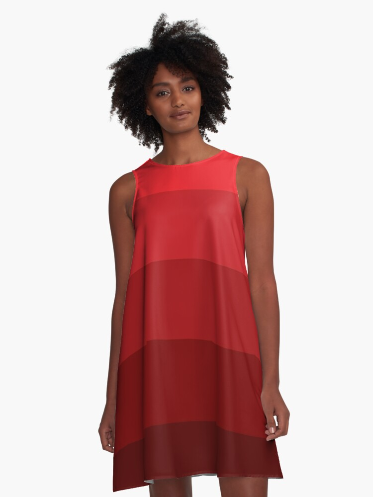 Red Lines A-Line Dress Front