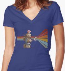 ROBOT ROBOT ROBOT Women's Fitted V-Neck T-Shirt