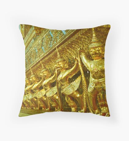 Fighting Monkeys Throw Pillow