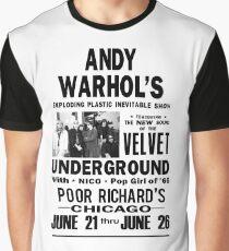 Andy Warhol's Velvet Underground Graphic T-Shirt