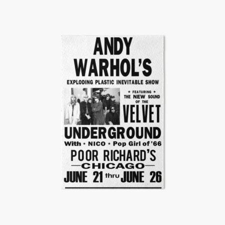 Andy Warhol's Velvet Underground Art Board Print