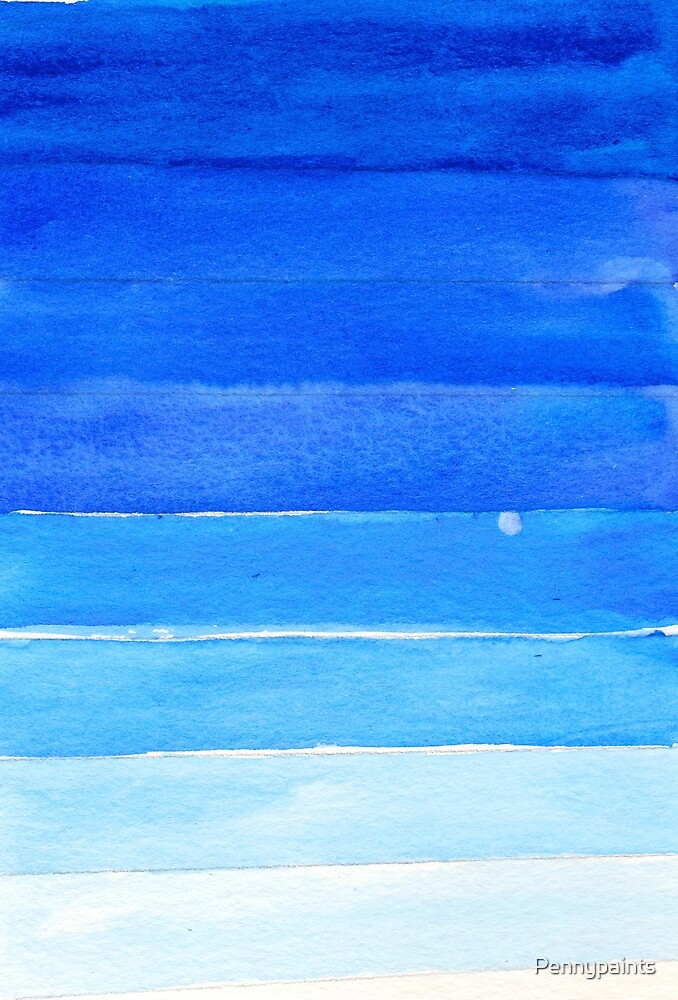 Blue Gradient by Pennypaints