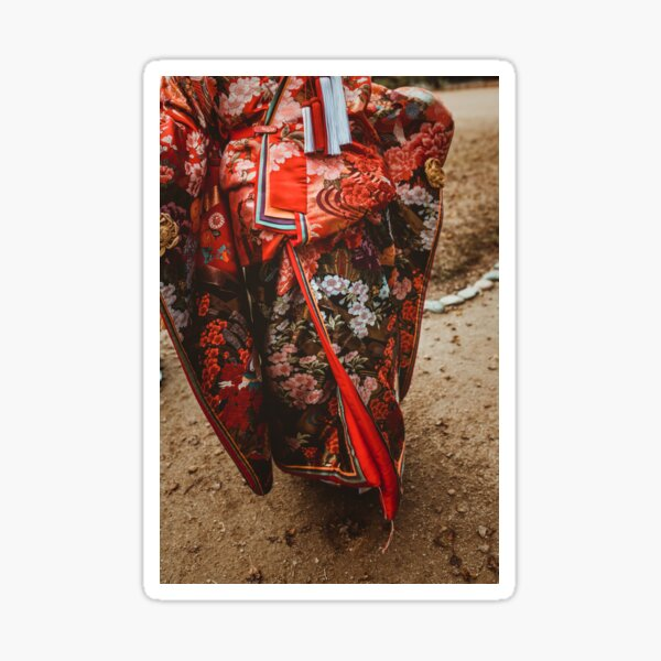 Red Kimono Sticker