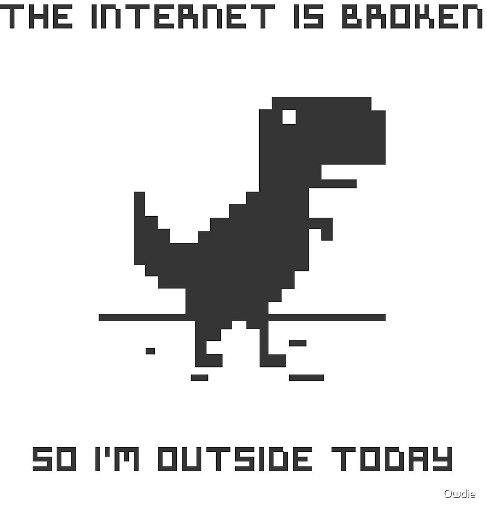 T-rex Outside by Owdie