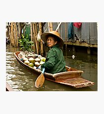 Coconut Milk Boat Photographic Print