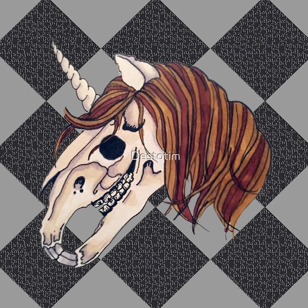 undead unicorn by Destotim