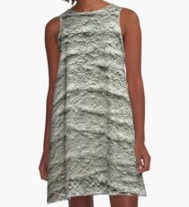 Gray, rough, wavy surface A-Line Dress