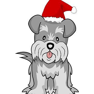 Christmas Schnauzer hat merry lover santa puppy dog terrier ratter snauzer schnauser xmas Navidad holiday funny gift Santa by Ultraleanbody