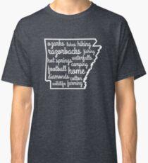 Arkansas Custom Outline Words Classic T-Shirt