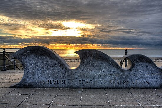 Revere Beach Reservation Wave Sculpture Revere MA by WayneOxfordPh