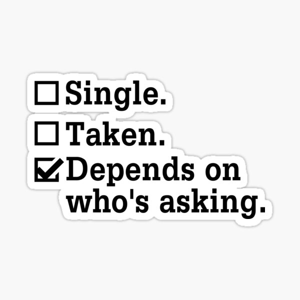 Single? Sticker