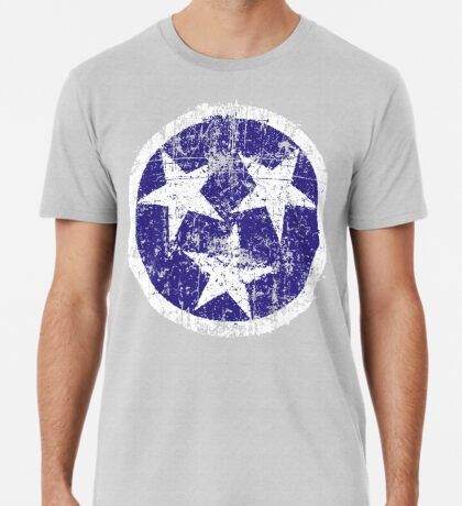 Grunge State Flag Of Tennessee Premium T-Shirt