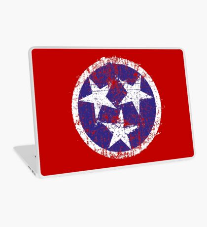 Grunge State Flag Of Tennessee Laptop Skin