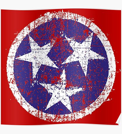Grunge State Flag Of Tennessee Poster