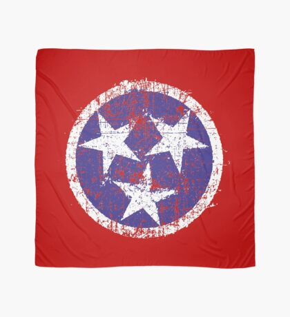 Grunge State Flag Of Tennessee Scarf