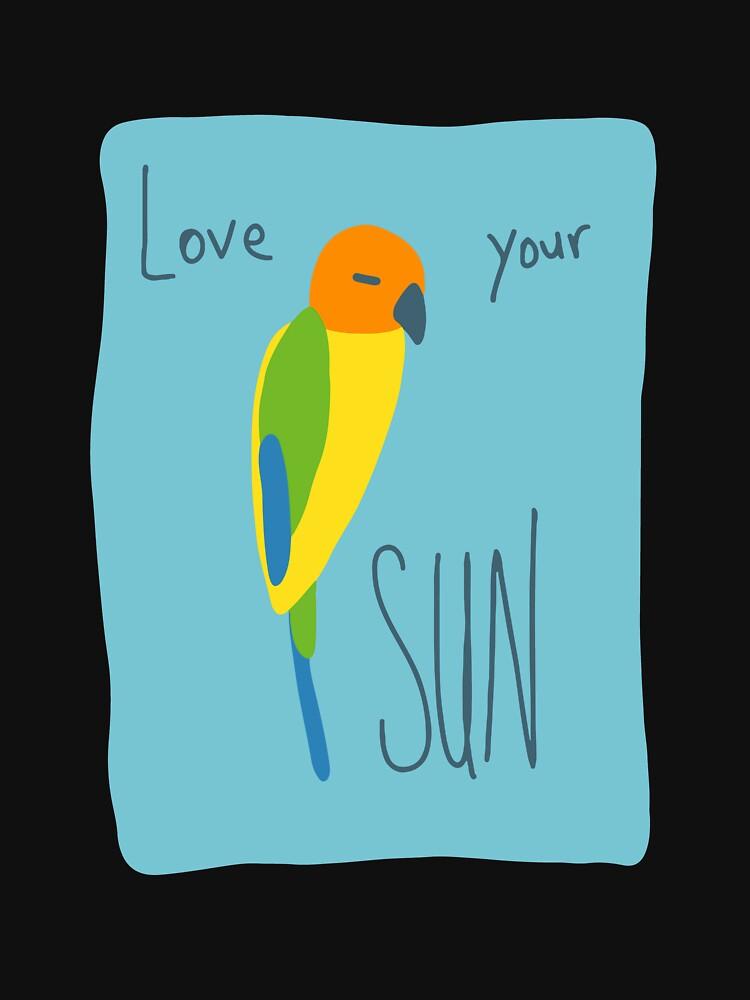 Sun Conure Parrot – Love Your Sun! by sensiblepony