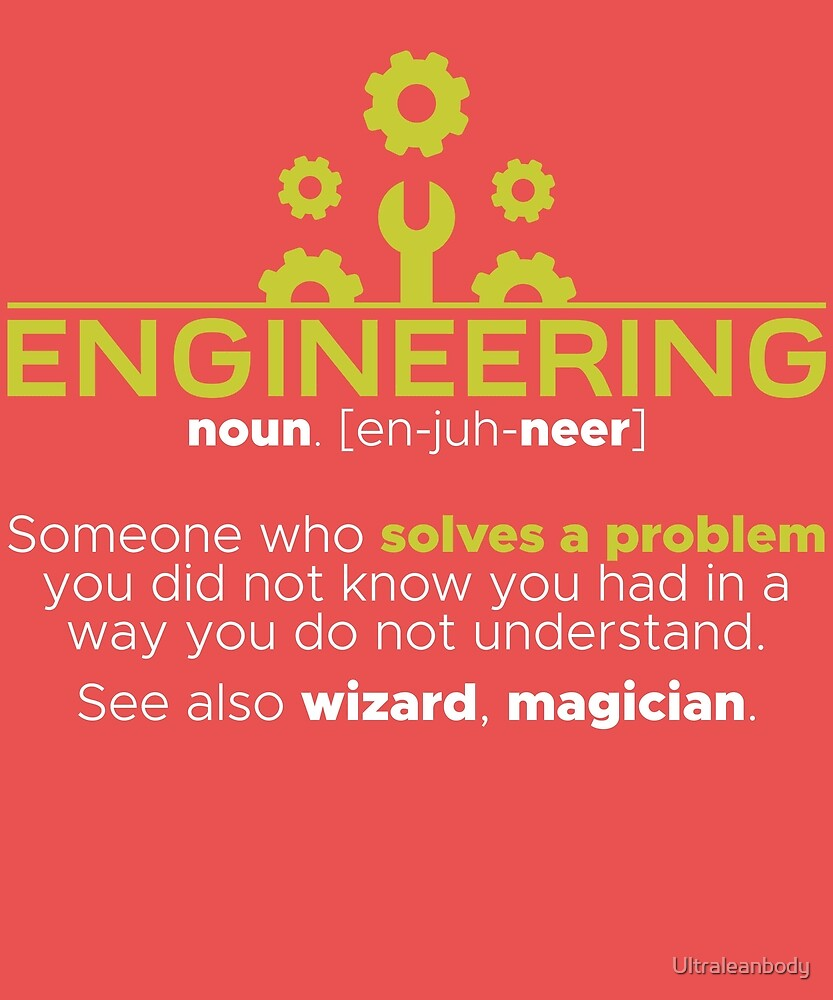 engineer solves all problems by Ultraleanbody