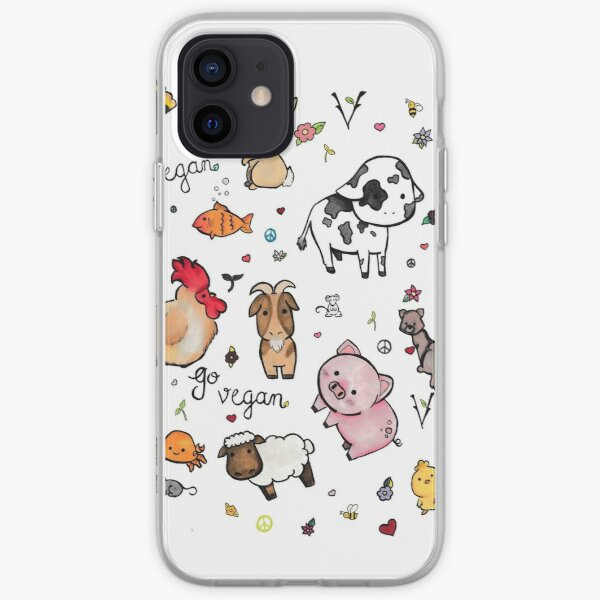 Vegan pattern  iPhone Soft Case