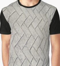 Bricks, background, patterns, grey, gray, cement, concrete, textures Graphic T-Shirt