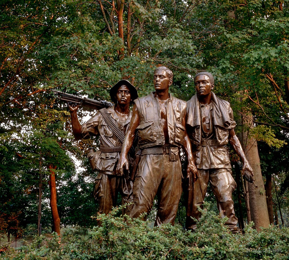 The Three Servicemen - Vietnam Memorial by Larry Costales