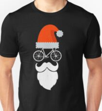 Cyclist Santa Cycling Enthusiast Bicycle Lovers Gift Unisex T-Shirt