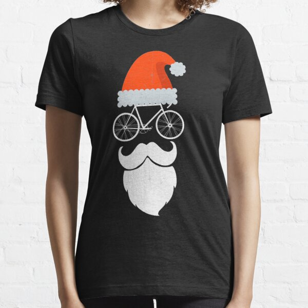 Cyclist Santa Cycling Enthusiast Bicycle Lovers Gift Essential T-Shirt