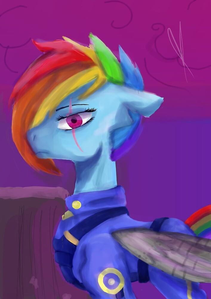 Rainbow War Horse by Katoe Mei