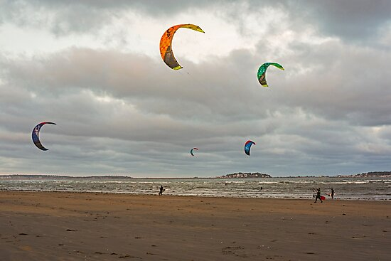Kitesurfing on Revere Beach by WayneOxfordPh