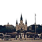 New Orleans Jackson Square #travel #iconic #cityscape #frenchquarter #redbubble #lifestyle #neworleans  by StudioBlack