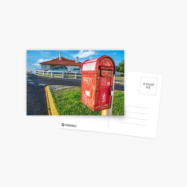 Byron Lighthouse Post Box Postcard
