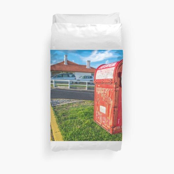 Byron Lighthouse Post Box Duvet Cover