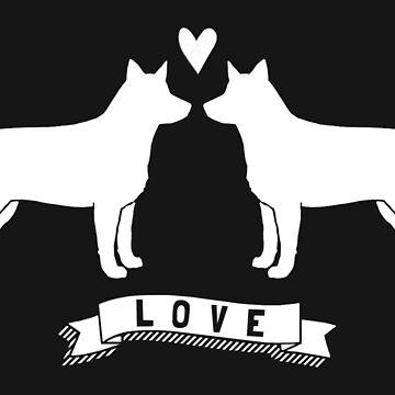 Australian Cattle Dogs in Love by ShortCoffee