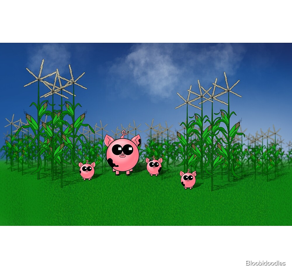 Bloobidoodles Animals - Piggies on the Farm by Samantha Froysland