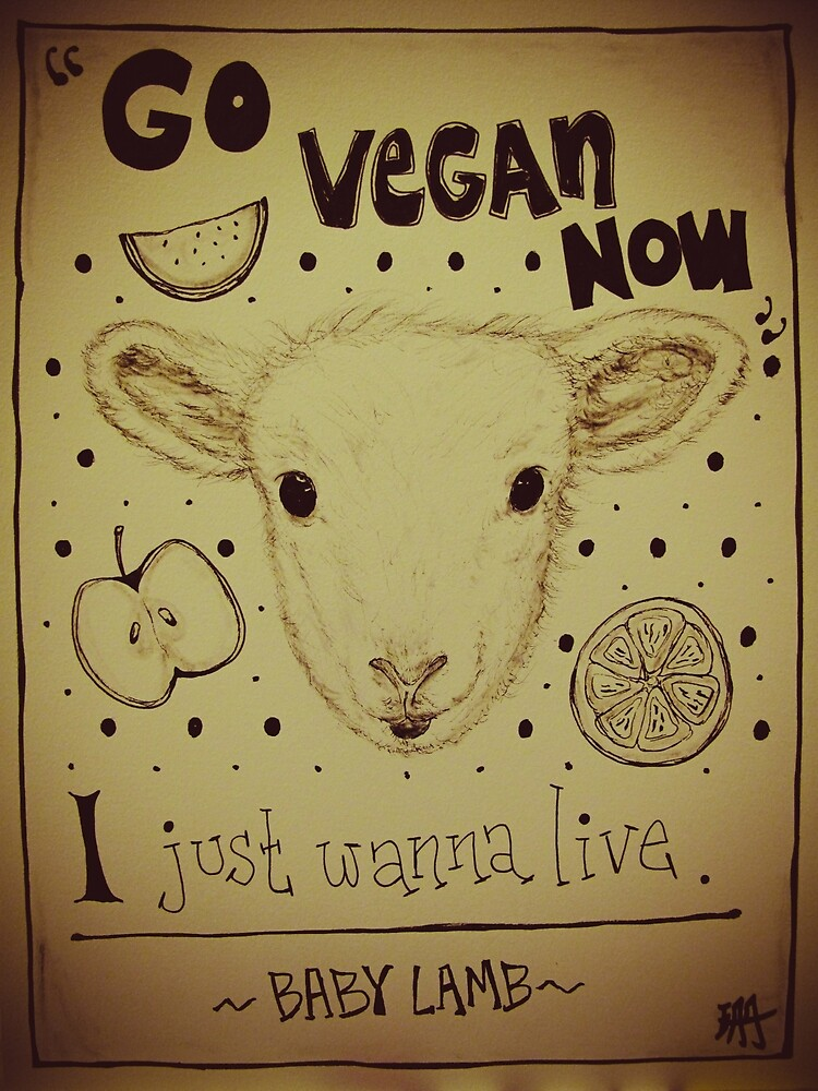Go Vegan Now - I Just Wanna Live Baby Lamb by yksbyofs