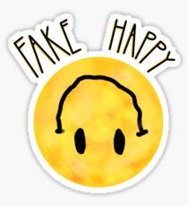 Fake Happy Sticker