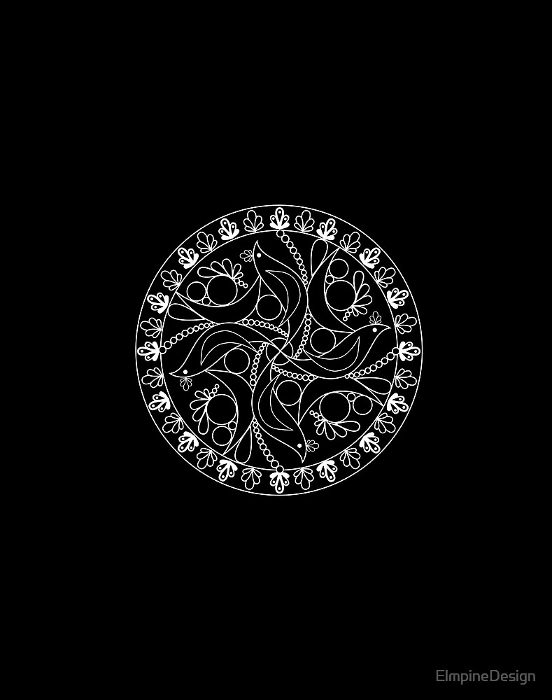 Black Birds Mandala by ElmpineDesign
