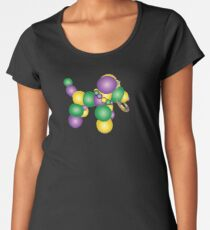 Mardi Gras Dog Women's Premium T-Shirt