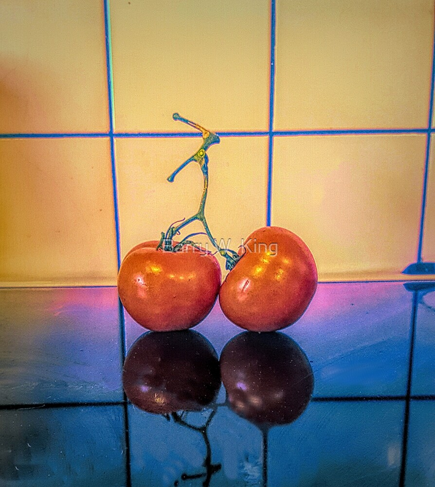 Tomatoe Still Life by Barry W  King