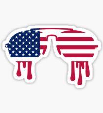 Sunglasses USA Sticker