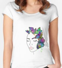 Madam Butterfly Women's Fitted Scoop T-Shirt