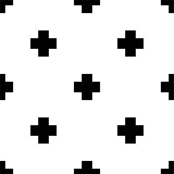 White and Black Block Design by PeppermintClove