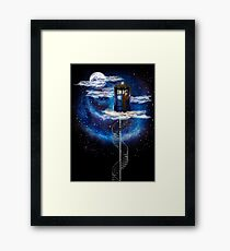 The man who lives on the cloud Framed Print