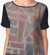 Surfaces, brick, wall, nonstandard, pattern Chiffon Top