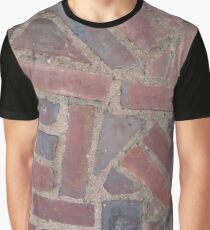 Surfaces, brick, wall, nonstandard, pattern Graphic T-Shirt
