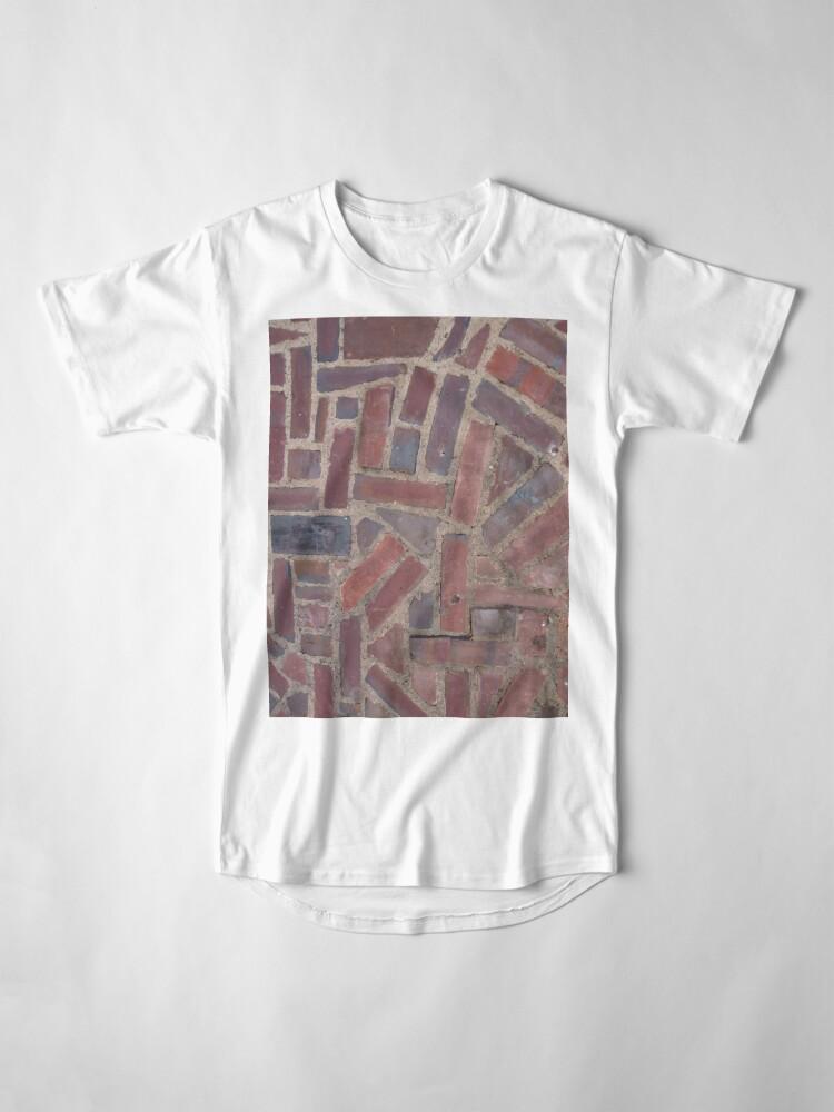 Alternate view of Surfaces, brick, wall, unstandard, pattern Long T-Shirt